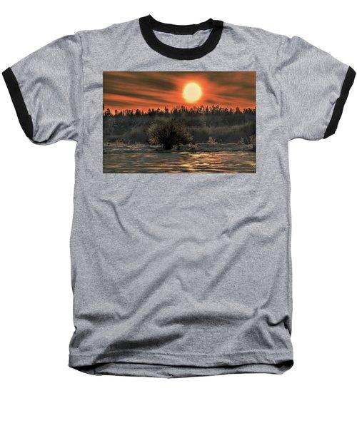 December Sun #f3 Baseball T-Shirt by Leif Sohlman