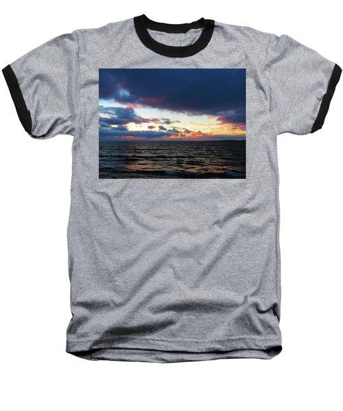 December Sunset, Wolfe Island, Ca. View From Tibbetts Point Lighthouse Baseball T-Shirt