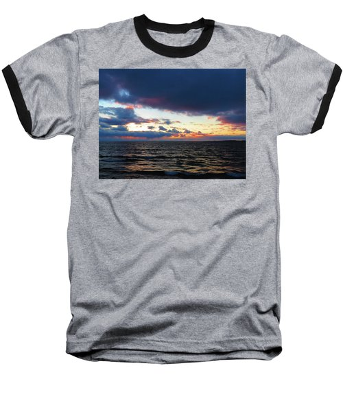 December Sunset, Wolfe Island, Ca. View From Tibbetts Point Lighthouse Baseball T-Shirt