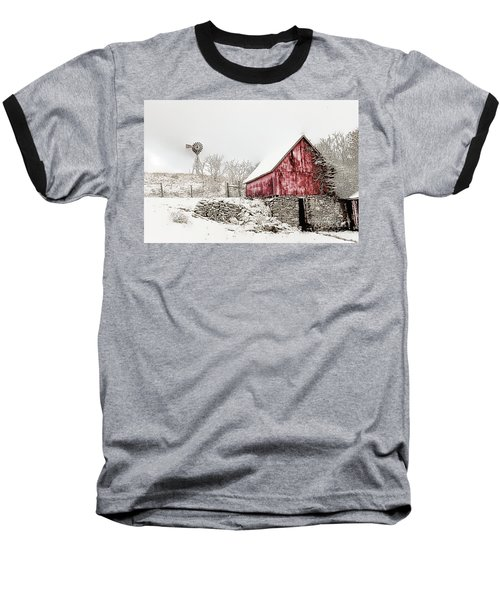 Decked In White Baseball T-Shirt by Nicki McManus