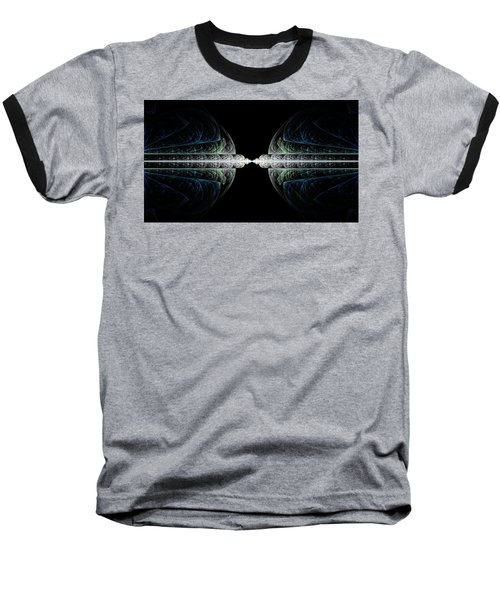 Baseball T-Shirt featuring the digital art Deco And Diamonds by Lea Wiggins