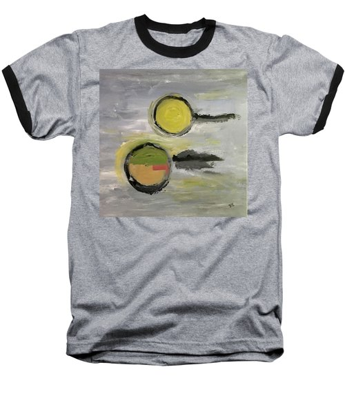 Baseball T-Shirt featuring the painting Deconstruction by Victoria Lakes