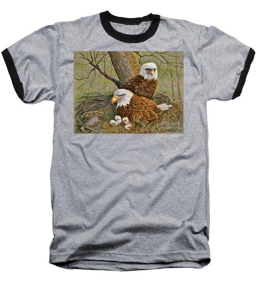 Decorah Eagle Family Baseball T-Shirt by Marilyn Smith