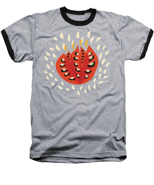 Decorative Beautiful Abstract Tulip Baseball T-Shirt