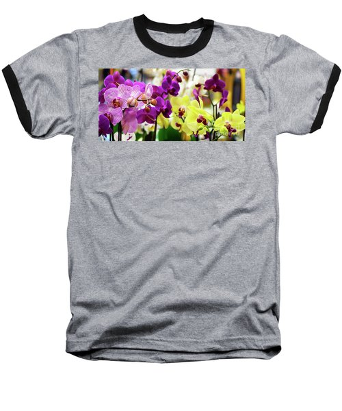 Decorative Orchids Still Life B82418 Baseball T-Shirt