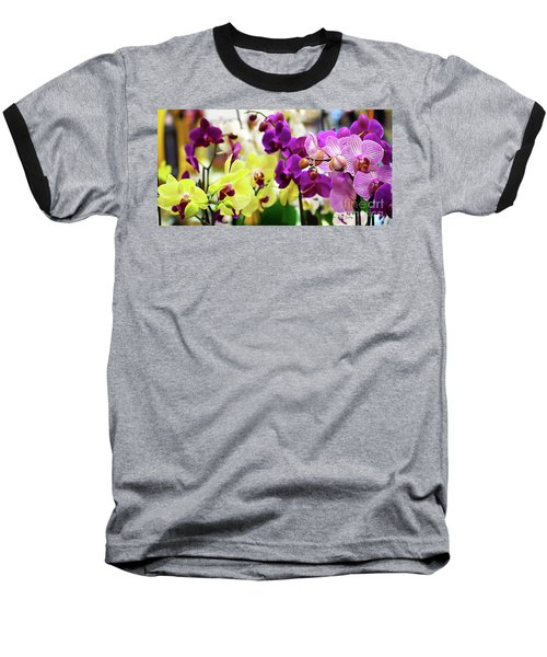 Decorative Orchids Still Life C82418 Baseball T-Shirt