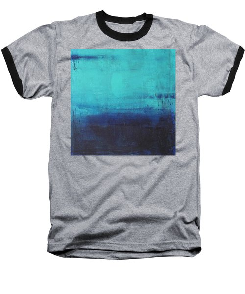 Baseball T-Shirt featuring the painting Deep Blue Sea by Nicole Nadeau