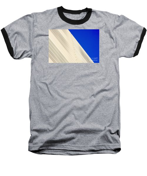 Deep Blue Sky And Office Building Wall Baseball T-Shirt