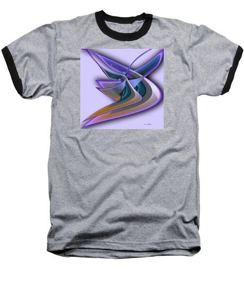 Deep Glow Baseball T-Shirt by Iris Gelbart