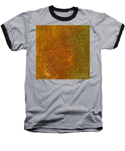 Baseball T-Shirt featuring the mixed media Deep Gold by Michael Rock