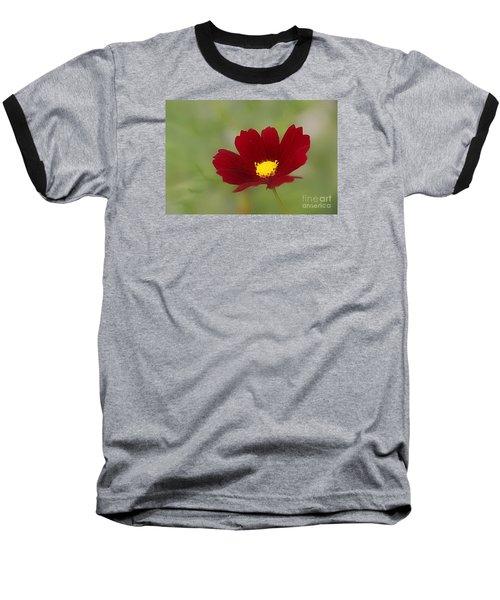 Deep In Red Baseball T-Shirt by Yumi Johnson