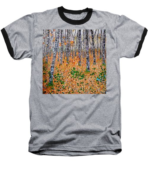Deep In The Woods- Large Work Baseball T-Shirt