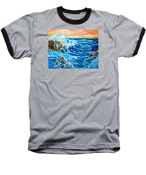 Baseball T-Shirt featuring the painting Deep by Jenny Lee
