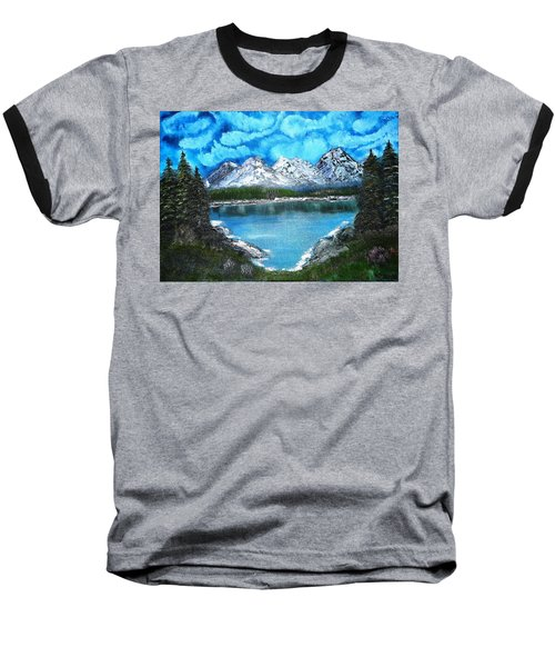 Deep Mountain Lake Baseball T-Shirt