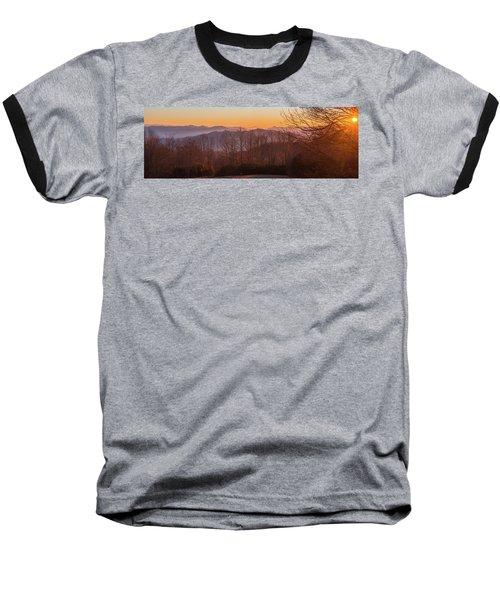 Deep Orange Sunrise Baseball T-Shirt