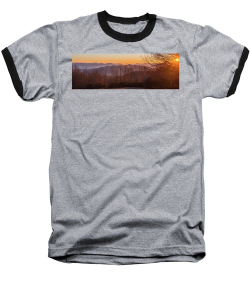 Deep Orange Sunrise Baseball T-Shirt