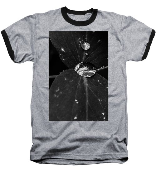 Baseball T-Shirt featuring the photograph Deep Refraction Between Leaves by Darcy Michaelchuk