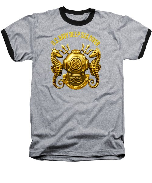 Deep Sea Diver Baseball T-Shirt