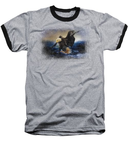 Deep Sea Fishing Baseball T-Shirt by Jai Johnson