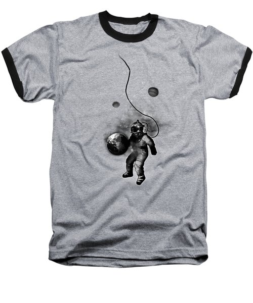 Baseball T-Shirt featuring the digital art Deep Sea Space Diver by Nicklas Gustafsson