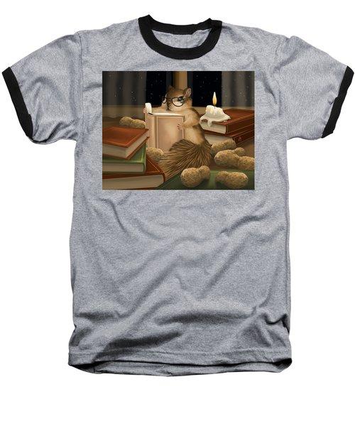 Baseball T-Shirt featuring the painting Deep Study by Veronica Minozzi