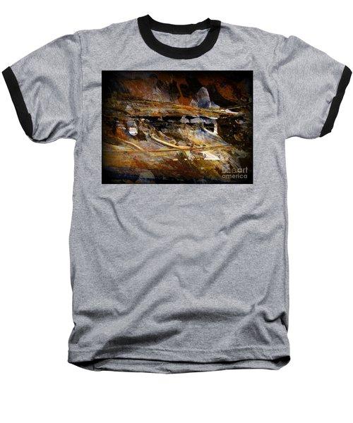 Baseball T-Shirt featuring the painting Deep Time by Nancy Kane Chapman