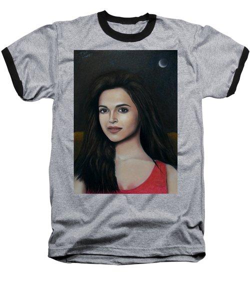Deepika Padukone - The Enigmatic Expression Baseball T-Shirt