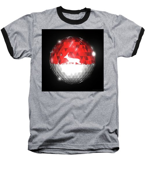 Deer Bauble - Frame 10 Baseball T-Shirt