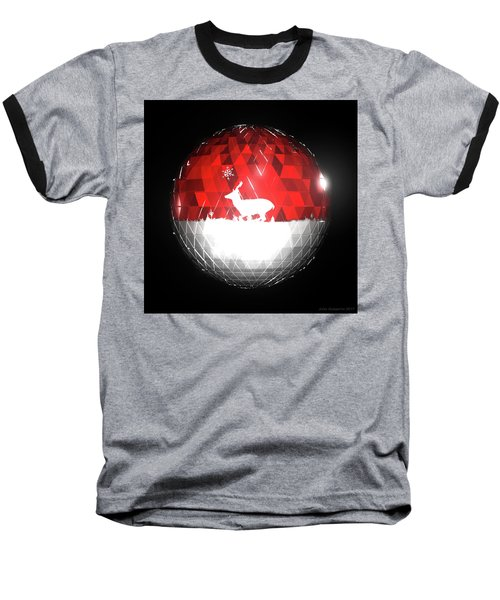 Deer Bauble - Frame 103 Baseball T-Shirt