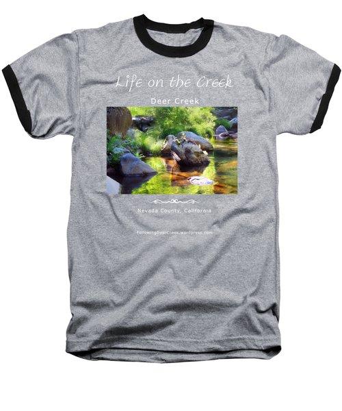 Deer Creek Ferns - White Text Baseball T-Shirt
