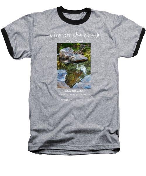 Deer Creek Point - White Text Baseball T-Shirt