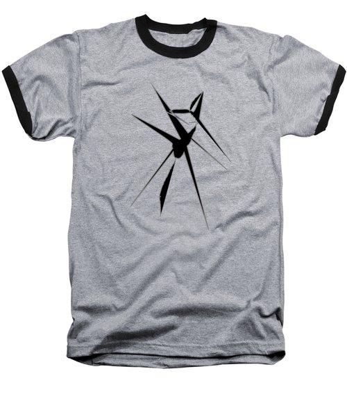Deer Crossing Baseball T-Shirt by Cathy Harper