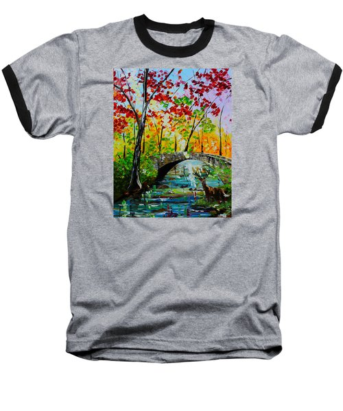 Deer Crossing Baseball T-Shirt