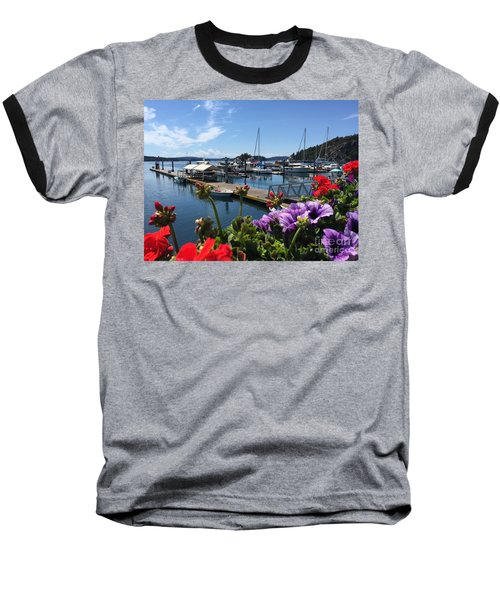 Deer Harbor By Day Baseball T-Shirt by William Wyckoff