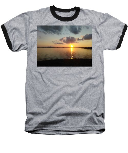 Deer Island Sunset Baseball T-Shirt