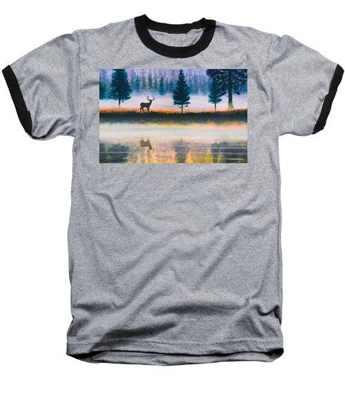 Deer Morning Baseball T-Shirt