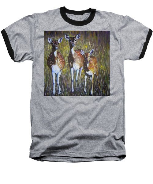 Deer On Guard Baseball T-Shirt