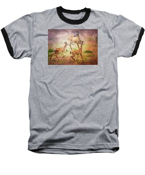Deer On Vancouver Island Baseball T-Shirt