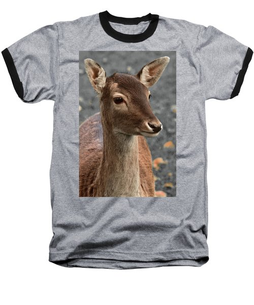 Deer Portrait Baseball T-Shirt