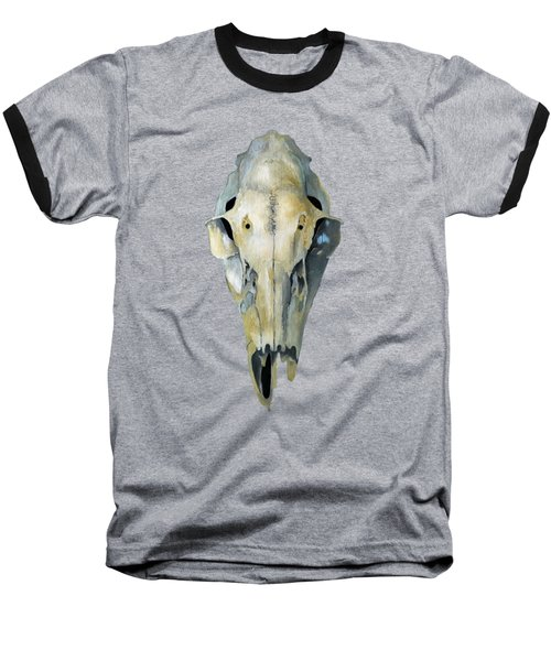 Deer Skull Aura Baseball T-Shirt by Catherine Twomey