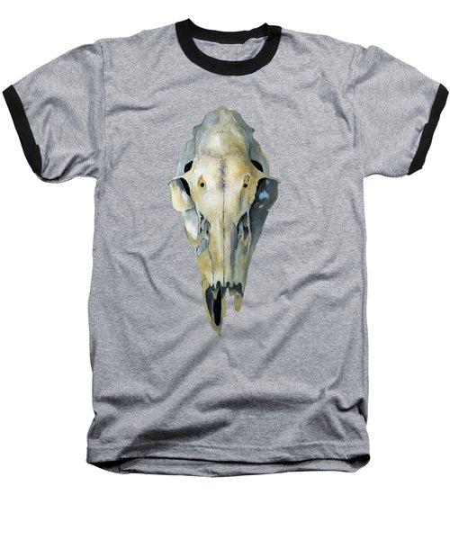 Deer Skull Aura Baseball T-Shirt