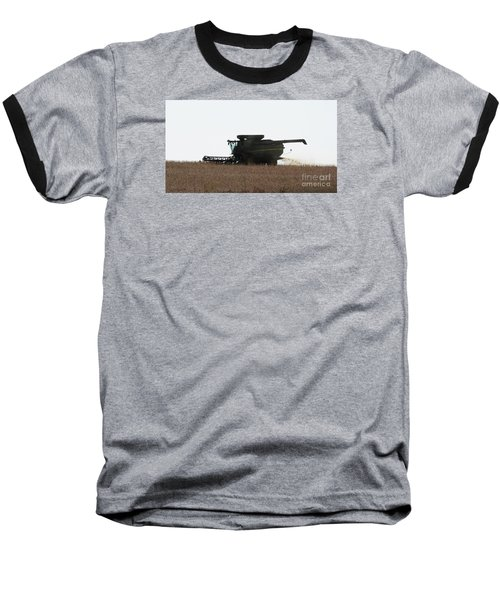 Deere Harvesting Baseball T-Shirt by J L Zarek