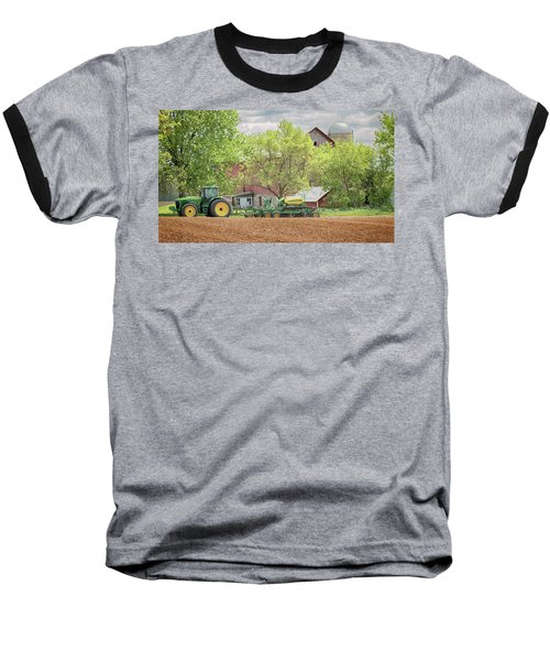 Deere On The Farm Baseball T-Shirt