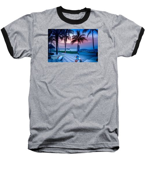 Deerfield Beach Fl Fishing Pier Baseball T-Shirt by Louis Ferreira