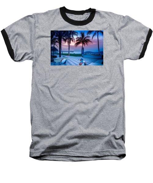 Deerfield Beach Fl Fishing Pier Baseball T-Shirt