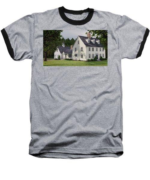 Deerfield Colonial House Baseball T-Shirt