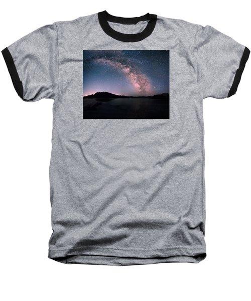 Deerfield Lake Milky Way Baseball T-Shirt