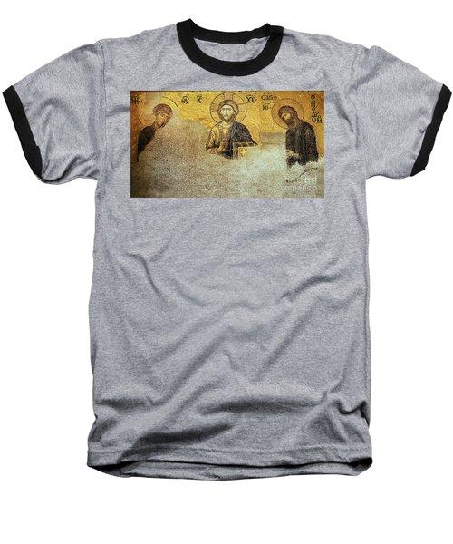 Deesis Mosaic Hagia Sophia-christ Pantocrator-judgement Day Baseball T-Shirt