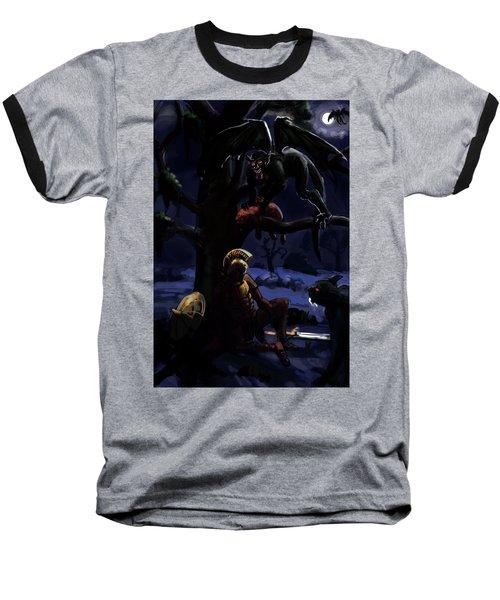 Defeated Hero Baseball T-Shirt