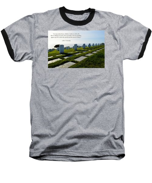 Baseball T-Shirt featuring the photograph Defending Liberty by Glenn McCarthy Art and Photography
